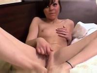 Nasty aged aged lady in nurse uniform crazy masturbation