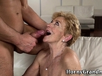 Old woman gets fingered