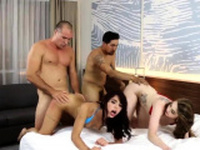 Step dad and crony bosss daughter surprise mom xxx