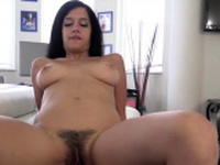 Mesmerizing Annika Eve with packing monster inside