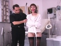 Hottie in astonishing bdsm scenes with ropes and clothespins