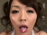 Playful idol Marika is masturbating after dinner