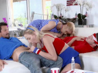 Teen dp hd Happy 4th of July family strokers!