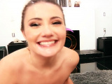 Teen throats in pov