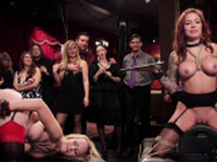 Busty Milfs anal fuck at bdsm orgy