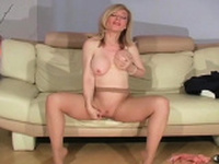 Excellent playgirl has cookie itching and she helps herself