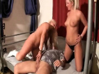 Snow Blowjob and ROUGH Teen Threesome