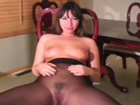 Goluptious girl is making a solo erotic video