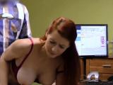 LOAN4K. Big-tittied hottie with red hair is owned by loan...