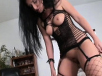 Goluptious sweetie gets body caressed well