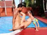 Sexy big booty teen fucked Swimming In Semen