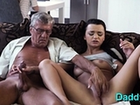 Mouthwatering young brunette diva fucked good