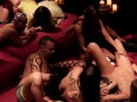 A orgy with horny swinger couples