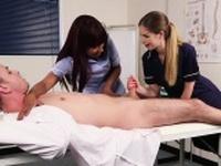 British nurses suck cock