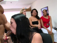 Those cuties go avid when cock is in their face