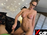 Sexy camgirl in live anal dildo show