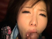 Classy busty oriental hottie Nanako Mori rubbing her fanny