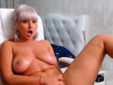 Big boobs have solo masturbation