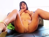 Staggering young gal does her best to get cum in mouth
