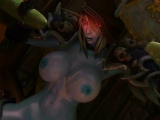 Pussy hungry orcs fucking dark elf in foursome