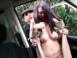 Amazing chick xxx play on the back seat