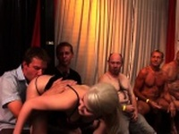 Ho gets banged in orgy