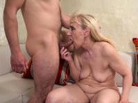Grandmother riding dick