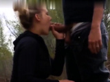 Real amateur pleasing cocks in public