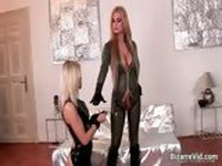 Two kinky hottie in latex clotn sucking part6