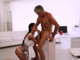 Old step dad fucks crony pals daughter Finally shes