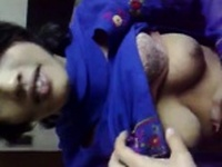 Indian babe sucking a cock in close up