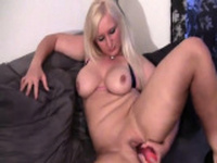 Extreme close up on her pussy taking toys
