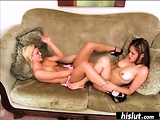 Scissoring action with two lovely girls