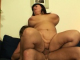 Huge melons mature woman rides his big dick