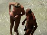 Nude beach blowjob voyeur style