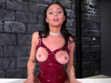 Brunette pornstar femdom and cumshot