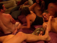 Jacuzzi time for these horny and naughty swinger couples!