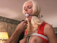 Naughty bombshell is making her first erotic video