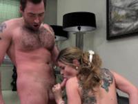 Hot slut Marica Chanel double penetrated
