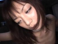 Cheerful chick Kaoru Natsukawa engulfs wang