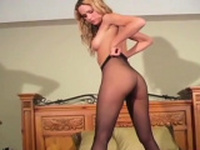 Delicious hottie is making a solo erotic video