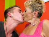Chubby euro granny gets hairy pussy banged