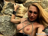 blonde tranny domme solo tease
