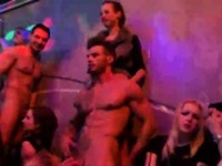 Hot chicks get completely crazy and nude at hardcore party