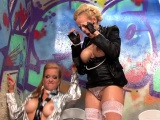 Nasty luscious babe gets a lot of slime