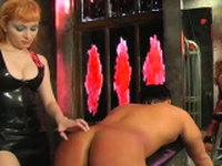 Dirty slut gets her arse red from hardcore thrashing session