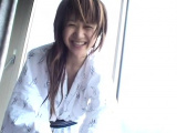 Sensual idol Yuzuki Hatano enjoys oral action