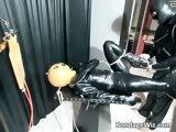 Kinky sex scene with a man in latex part6
