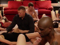 Sexy and steamy swinger orgy happening right in this house.