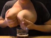 Amateur Huge Engorged Breasts Milking 2